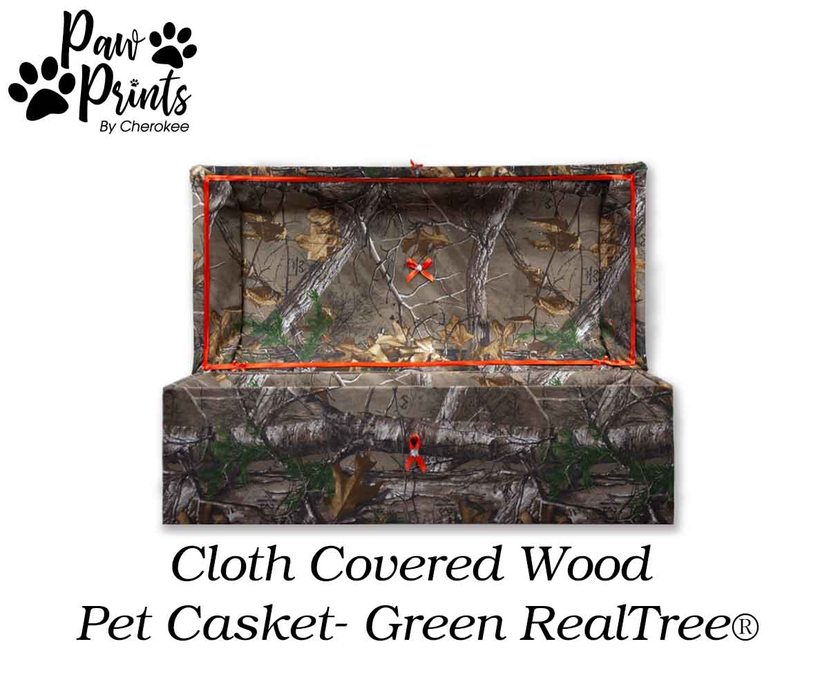 Cloth Covered Pet Casket